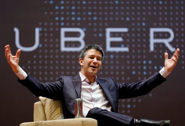 Travis Kalanick, hasta ayer CEO de Uber, durante una charla en la India