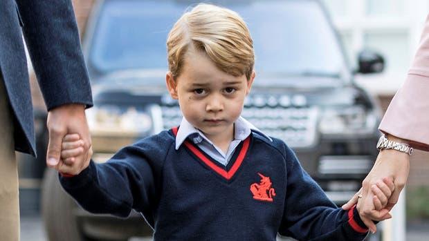 El tierno video del príncipe George, hijo de Guillermo y Kate, en su primer día de clases