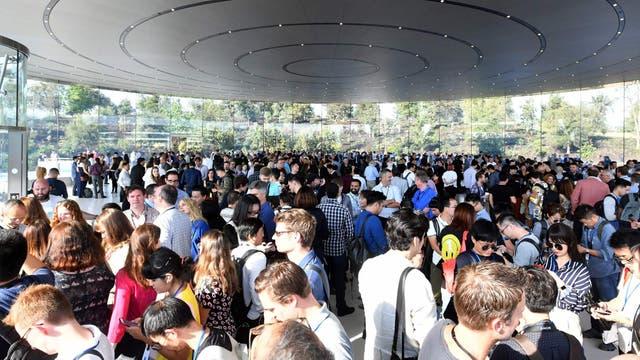Una vista del Apple Park por dentro