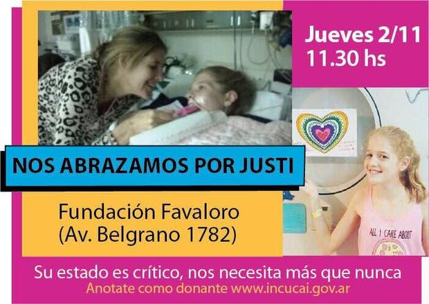 Justina espera por un transplante de corazón
