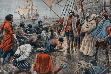 Magallanes ordena ejecutar a los amotinados, en las costas de lo que hoy es Puerto San Julián