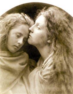 Detalle de El beso de la paz (1869)