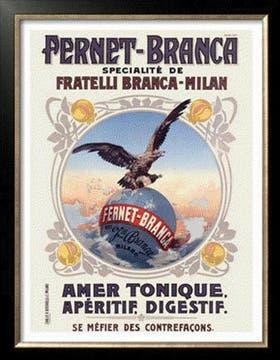 El isologo de Branca fue diseñado en 1893 por el cartelista italiano Leopoldo Metlicovitz.  La figura quedó registrada en el Ministerio de Economía de Italia con el número 7108.. Foto: Gentileza Branca
