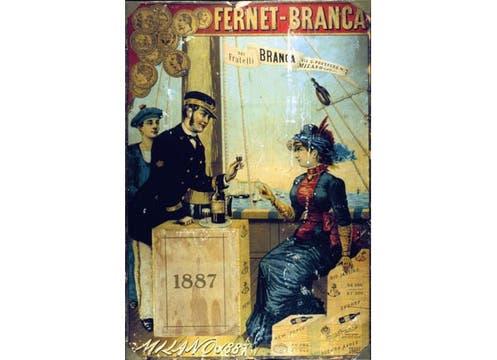 El primer anuncio de Fratelli Branca data de 1865.. Foto: Gentileza Branca