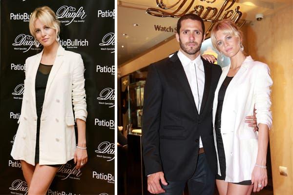 Liz Solari estuvo presente en la apertura de la nueva tienda de joyas Danfer en el Patio Bullrich. ¡Qué bien le queda ese blazer largo!. Foto: Prensa Danfer