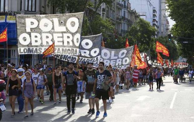 Los militantes de izquierda se movilizaron ayer hacia Plaza de Mayo