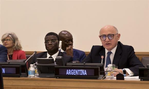El canciller Timerman, ayer, en las Naciones Unidas