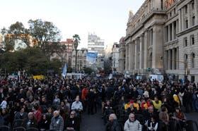 La marcha de Justicia Legítima a los Tribunales