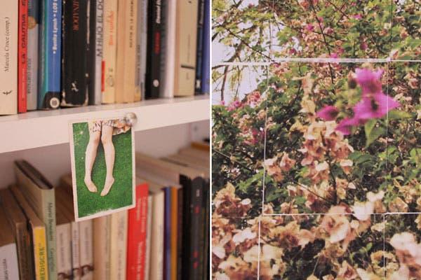 Collage de fotos en la biblioteca de Dani.