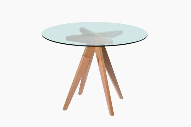 modelo charles con base en madera maciza y tapa de vidrio templado de mm olivia d