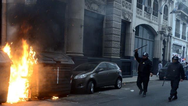 Las fuerzas de seguridad intervinieron y detuvieron a siete personas