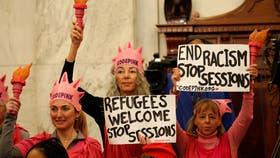 Personas protestaron en el Congreso de Estados Unidos