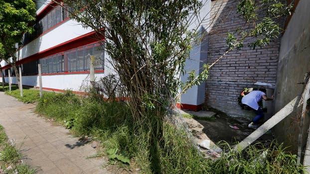Escuela Nº 7 de General Pacheco; también se robaron el alambrado perimetral. Foto: LA NACION / Ricardo Pristupluk