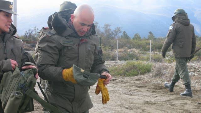 El Cabo Primero Ernesto Yáñez, herido en el cráneo