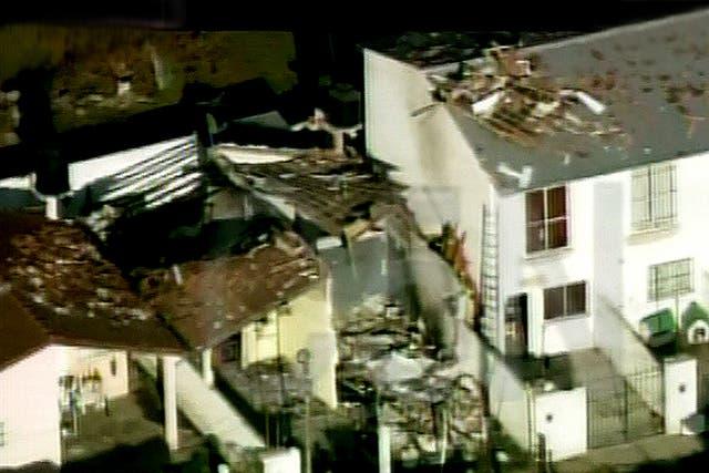 Imagen de tv donde se ve la casa de Roberto Arturo, testigo en el caso Candela