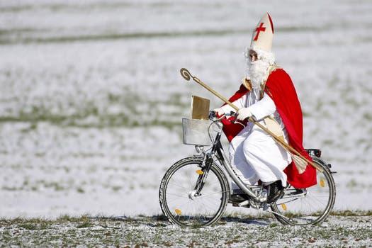 ¿Y los trineos? La crisis también golpea a Santa. Foto: AFP