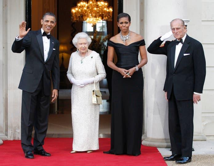 Los Reyes recibieron a Barack Obama y a Michelle Obama el 25 de mayo de 2011. Foto: AP