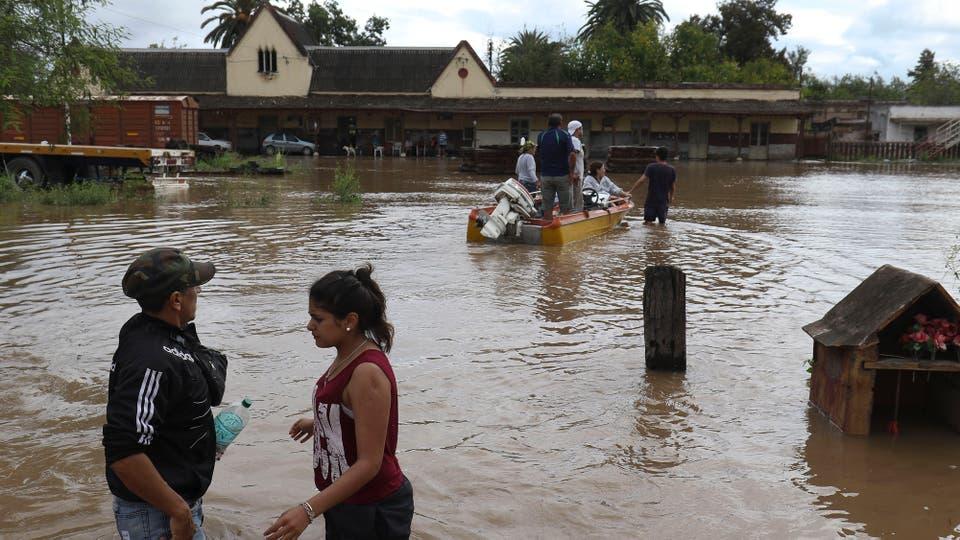 Para los próximos días el panorama no es muy alentador y que anuncian más lluvias para los próximos días. Foto: LA NACION / Fernando Font