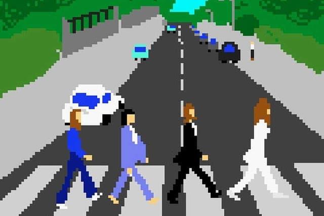 Las imágenes más representativas del mundo de la música bajo la particular representación de la estética de los videojuegos en 8 bits
