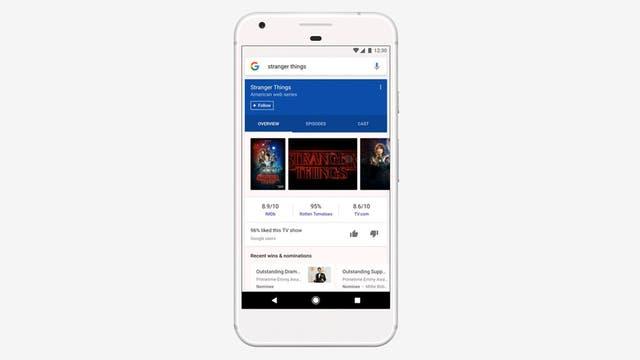 Una vista de la línea de contenidos elaborado por la aplicación Google para iOS y Androd, que estará disponible sólo en EEUU por el momento, aunque planean su despliegue paulatino a otros mercados