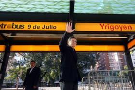 Mauricio Macri inauguró ayer el sistema del Metrobus en la avenida 9 de Julio