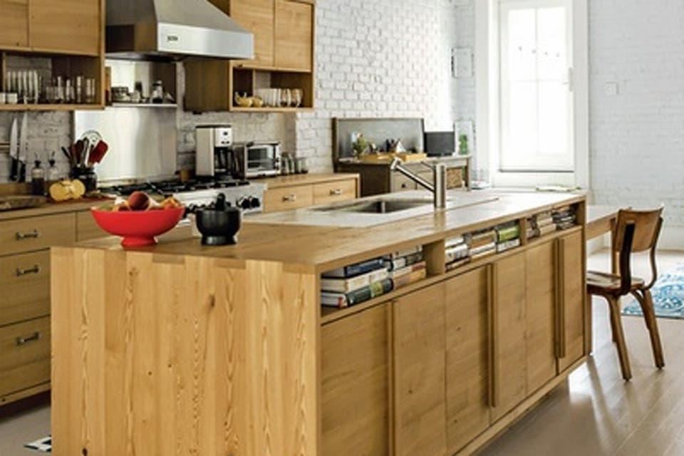 Cocinas decoradas con madera
