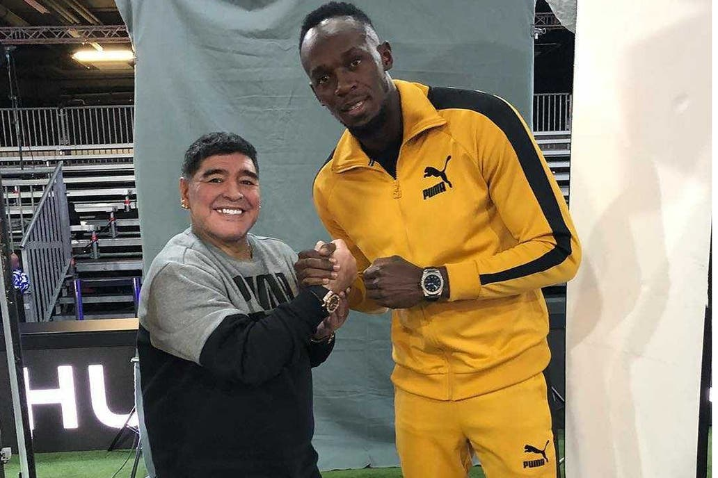 Usain Bolt entrenó hoy con el Borussia Dortmund