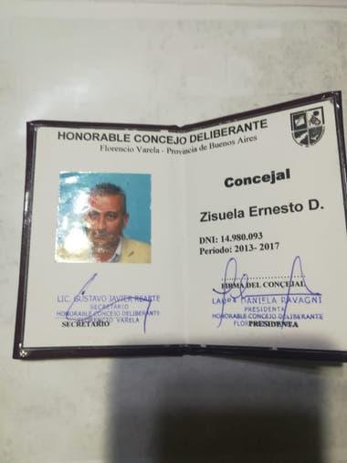 Buenosair police received a member of the Council of Florencio Varela this morning