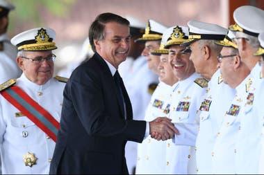 Bolsonaro, en el Club Naval de Brasilia