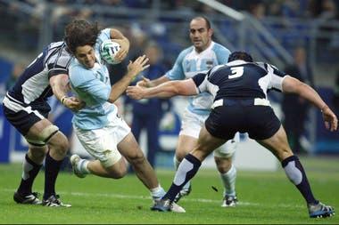 Pichot y Ledesma en acción, en el Mundial 2007.