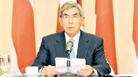 El presidente costarricense Oscar Arias, al comunicar su última propuesta