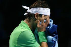 Rafael Nadal se lamenta tras perder ante el ruso Davydenko