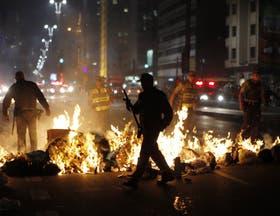 En San Pablo, hubo protestas contra un aumento de tarifas del transporte