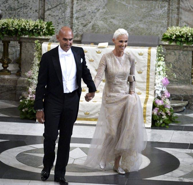 La cantante de Roxette, Marie Fredriksson, asistió como invitada especial junto a su esposo Mikael Boyloys. Foto: /AP y Getty
