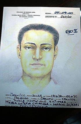 El identikit de uno de los sospechosos que ayer difundió la policía