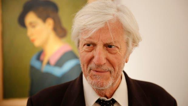 Macció durante la última feria arteBA, delante de una obra de Gómez Cornet, un pintor que le gustaba