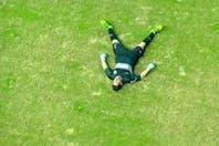 El video de la caída de Agustín Orion contra Cerro Porteño: se desplomó tras un golpe y una mala salida