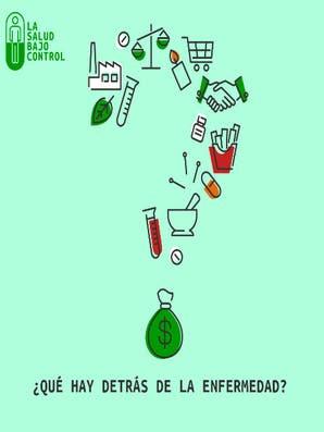 ¿La enfermedad es un negocio? Afiche de la película La salud bajo control.