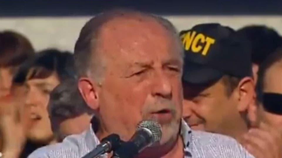 Hugo Yasky durante la manifestación Captura A24