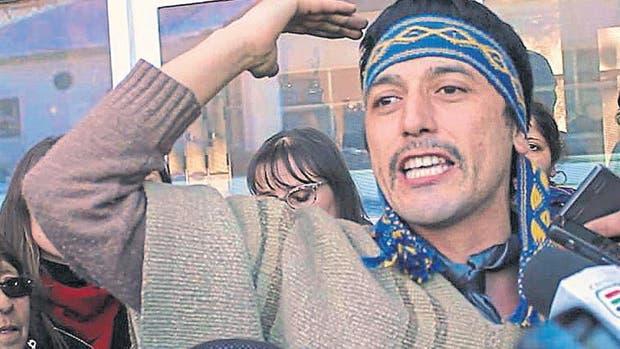 El líder de Resistencia Ancestral Mapuche, Facundo Jones Huala