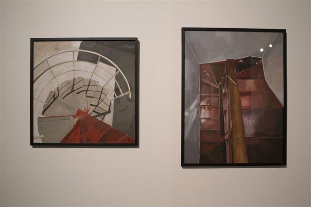 Pinturas que integraron la muestra Elipsis (2014), de María Julia Rossetti