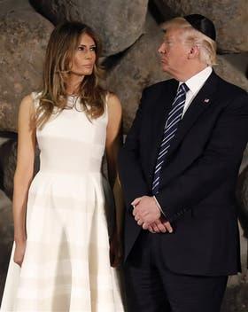 Melania y Donald Trump, ayer, en el Museo del Holocausto en Jerusalén