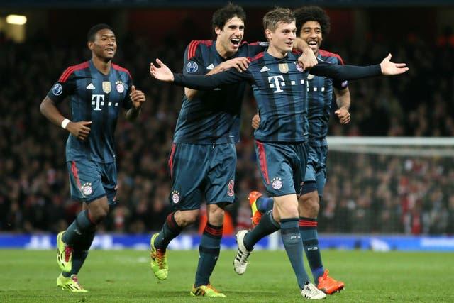 Bayern festejó ante Arsenal