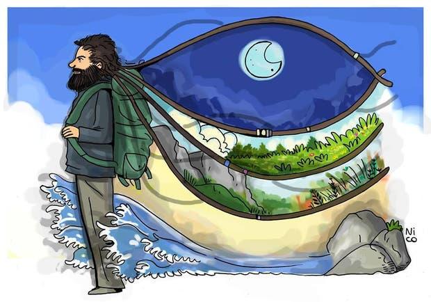 Un ilustrador llamado Nico realizó una ilustración para homenajear a Santiago Maldonado