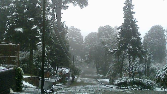 Foto de archivo de una nevada en la región de Canela, en agosto de 2013