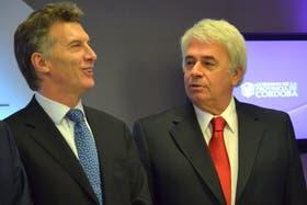 Macri y De la Sota, en un diálogo durante eel año pasado