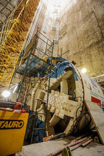 La tunelera Beatriz hará un tunel de 12 km por debajo del lecho del río. Foto: LA NACION / Hernán Zenteno