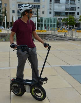 Uno de los prototipos de vehículo ecológico presentado en el Fuel Choices & Smart Mobility Summit que se realiza en Tel Aviv