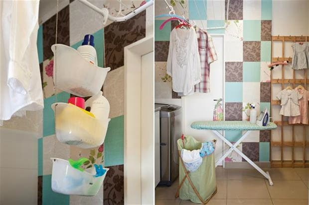 Con estilo patchwork para que el lavadero no sea tan aburrido.  /Archivo LIVING