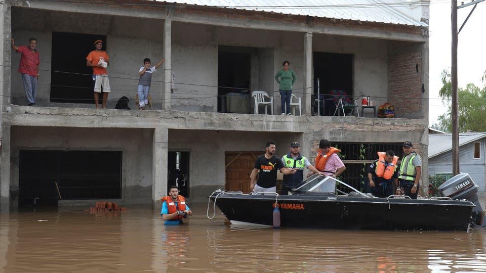 Inundaciones en Lamadrid, al sur de la provincia de Tucumán. Foto: LA NACION / Fernando Font